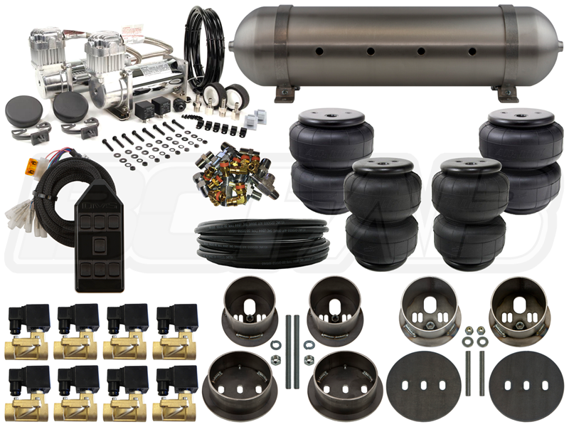 Home Air Suspension Kits Gm 1959 1984 Cadillac Deville 1960 Complete Fbss Airbag Kit Level 2