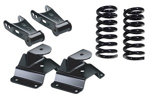 "McGaughy's 2/4"" Economy Drop: Front Coils, Rear Hangers & Shackles"