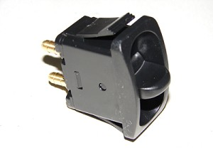 Paddle valve switch with 1/4' barb fittings.