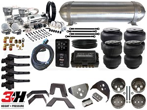Complete FBSS Airbag Suspension Kit - 1998-2011 Ford Ranger - LEVEL 4 w/ Air Lift 3H