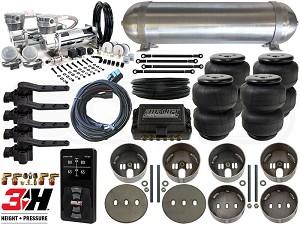 Complete Air Suspension Kit - 1991-1996 Caprice, Impala, Roadmaster - LEVEL 4 w/ Air Lift Performance 3H