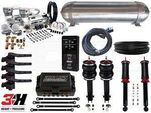 Complete Air Suspension Kit - MKII & MKIII Platform - LEVEL 4 w/ Air Lift 3H