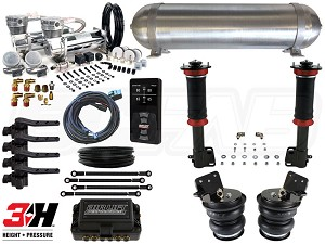 Complete Air Suspension Kit - 2004-2006 Scion xA, xB - LEVEL 4 w/ Air Lift Performance 3H