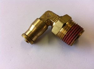 "1/4"" Line x 3/8 npt 90 Degree Air Fitting"