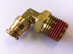 "3/8"" Line x 1/2 npt 90 Degree Air Fitting"